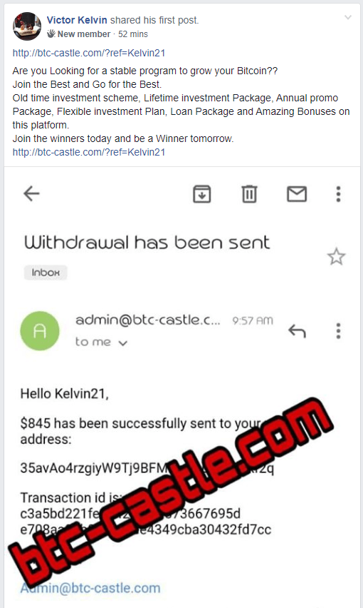 showing scam